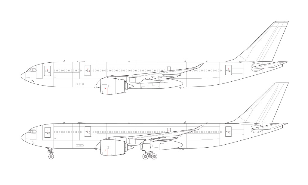 Airbus A330-800NEO blueprint