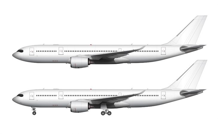 Airbus A330-800NEO white side view