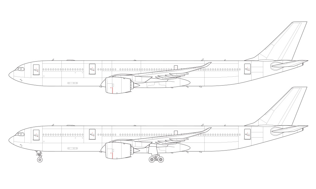 A330-900 NEO blueprint