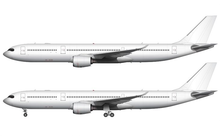 Airbus A330-900 NEO side view
