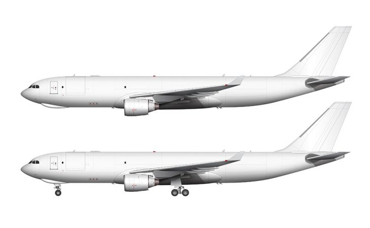 A330-200F Pratt & Whitney side profile