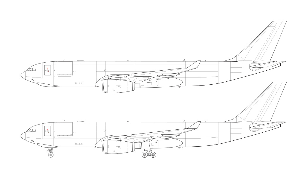 A330-200F rolls royce engines blueprint