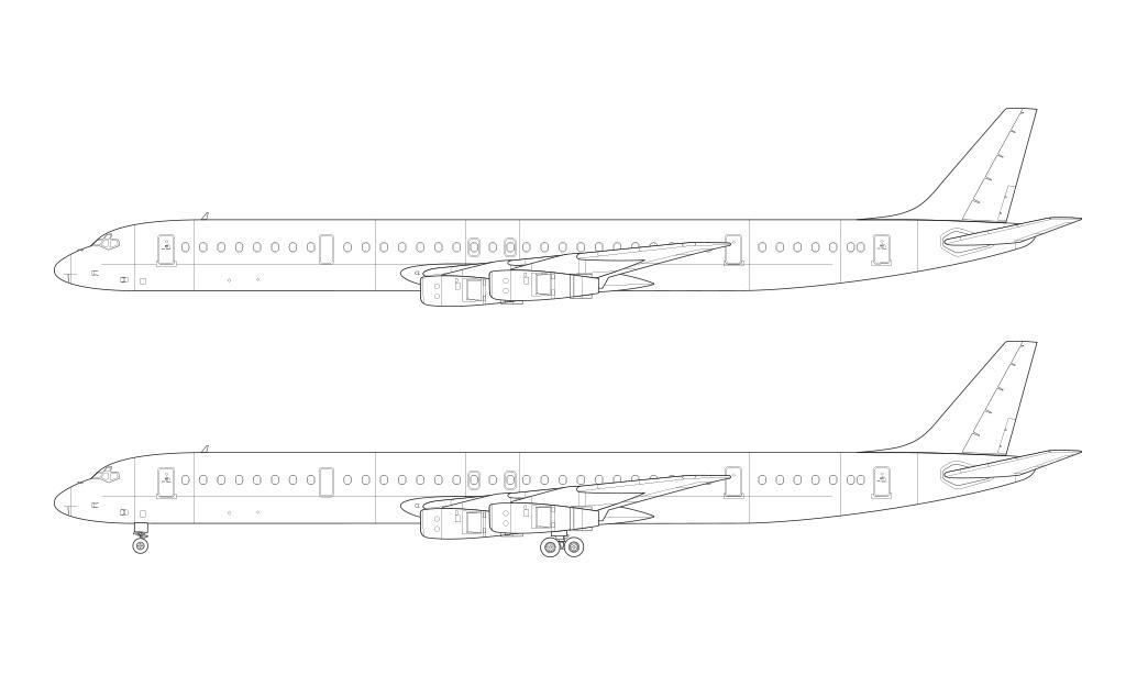 Douglas DC-8-61 blueprint