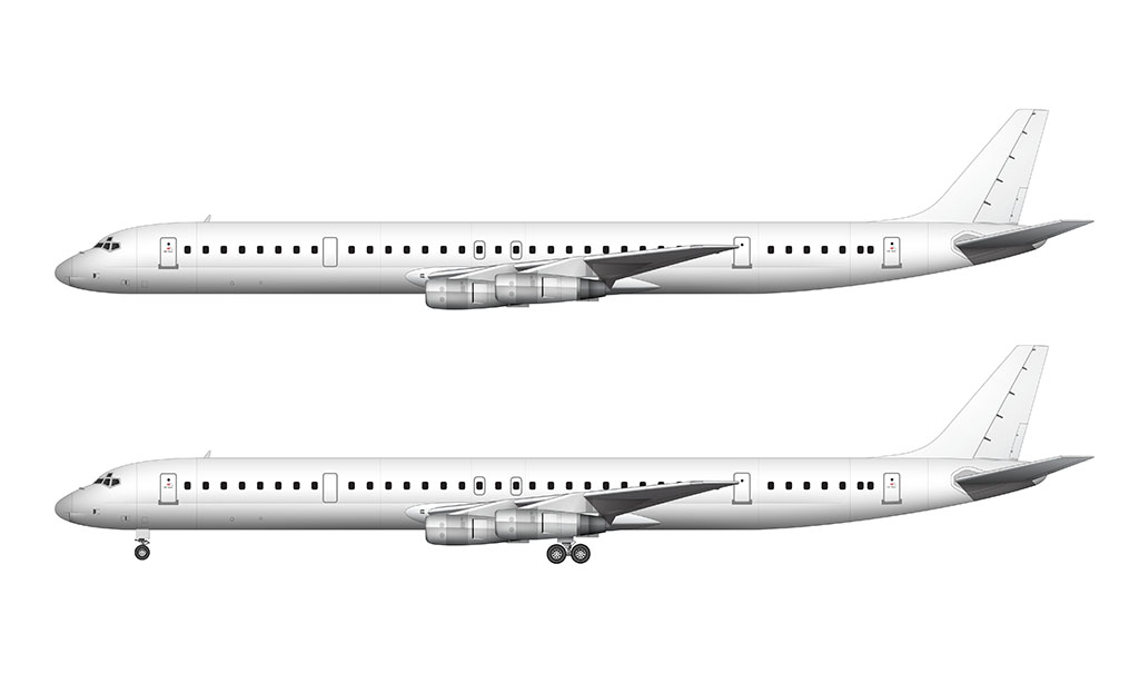 Douglas DC-8-61 side view