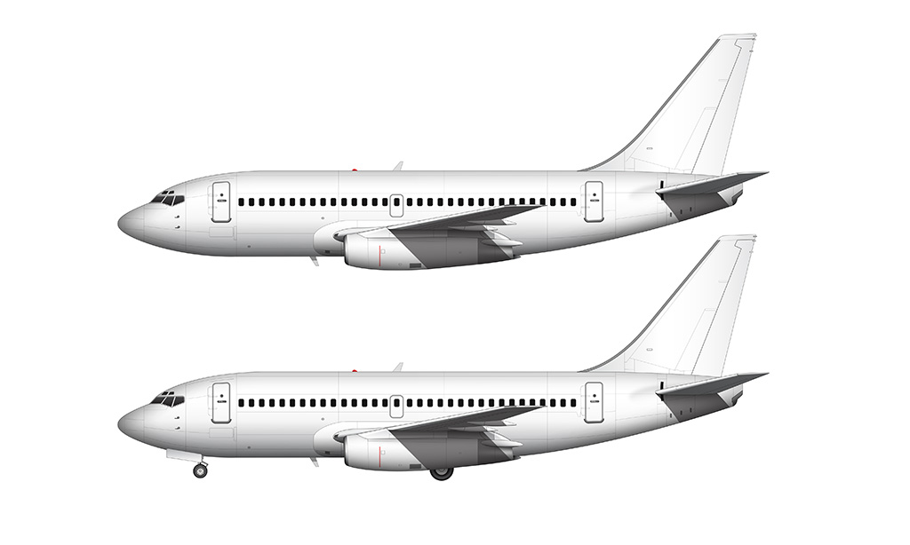 737-200ADV side view high resolution