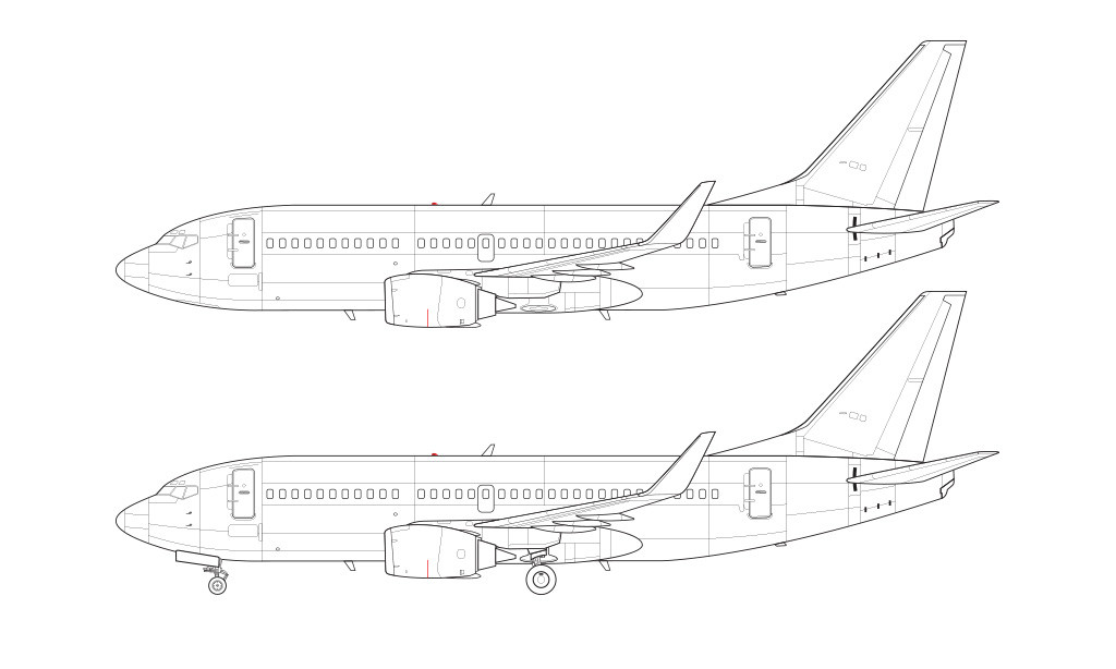 737-300SP blueprint