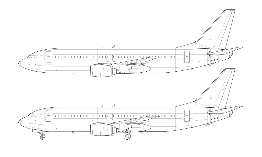 737-400 technical blueprint