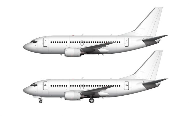 737-500 white side view