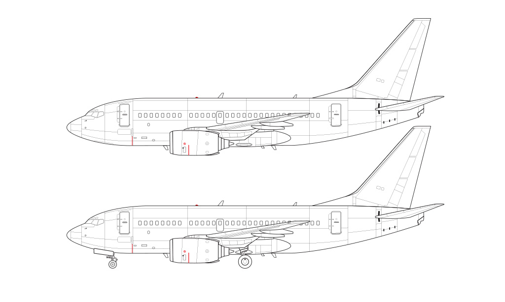 737-600 line drawing blueprint