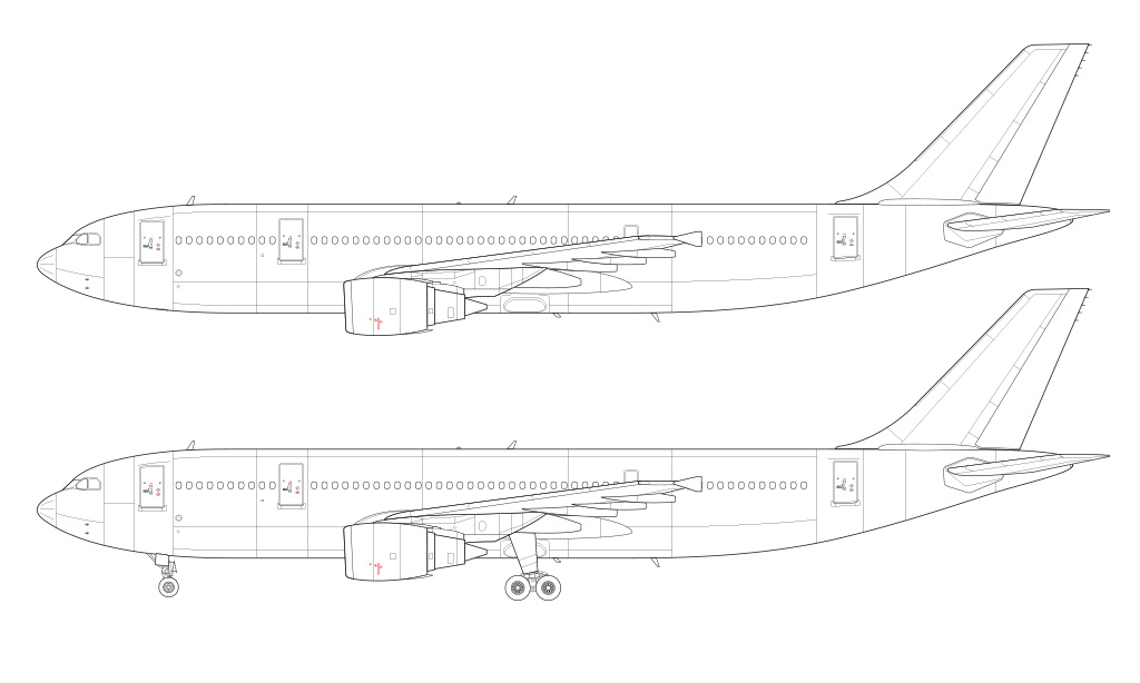 A300B4-600R blueprint technical drawing