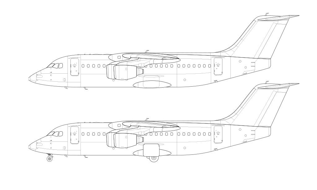 BAe 146-200 / Avro RJ85 blueprint