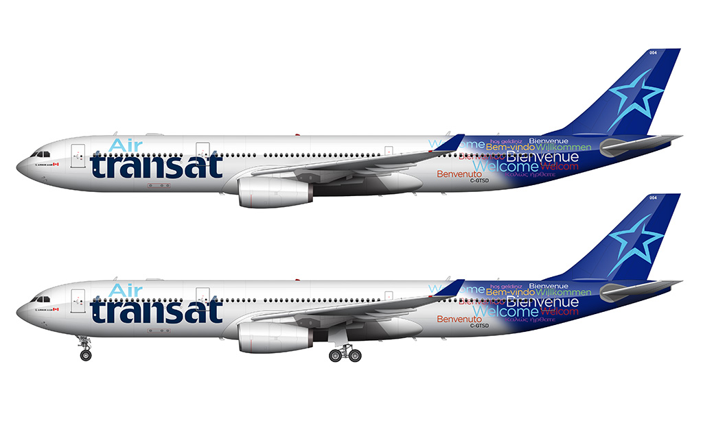 air transat A330 side view
