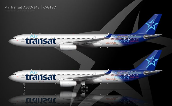 Air Transat A330-300 side view
