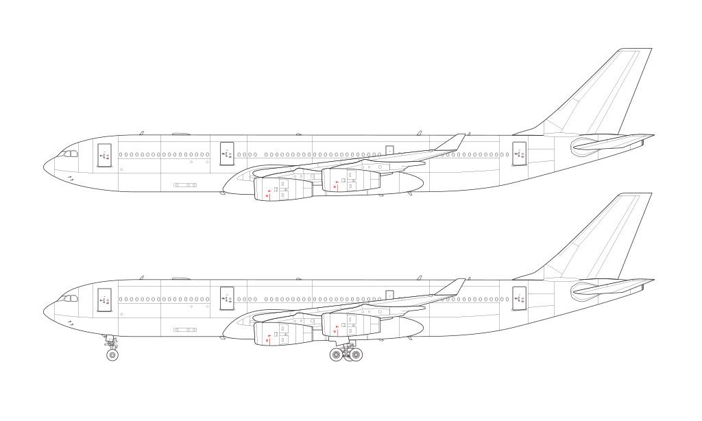 Airbus A340-200 blueprint