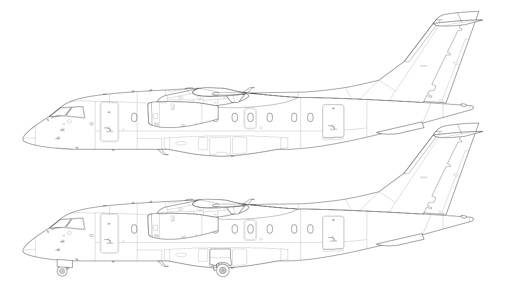 Dornier 328JET technical blueprint