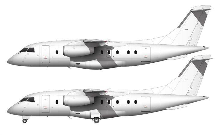Dornier 328JET blank side view