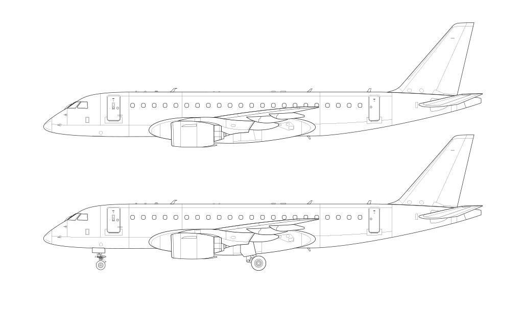 E175-E2 line drawing blueprint