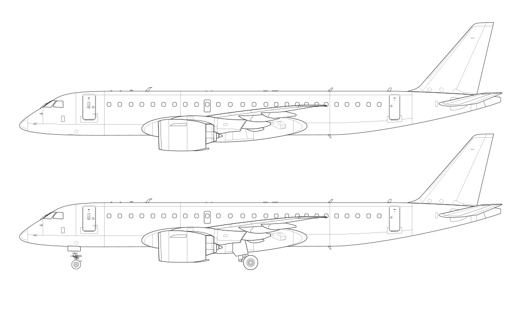 E190-E2 technical drawing