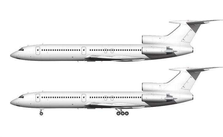 Tupolev Tu-154M side view
