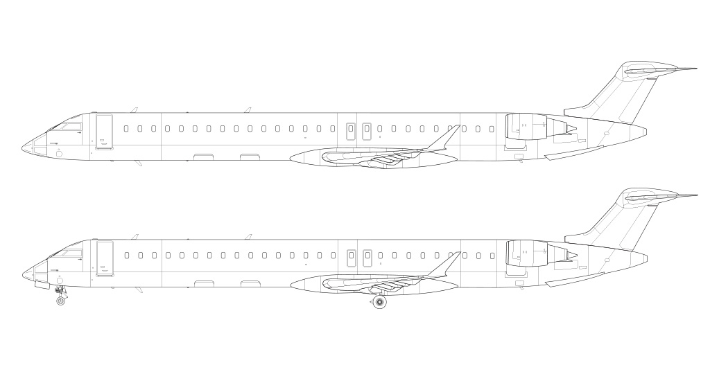 Bombardier CRJ-1000 blueprint