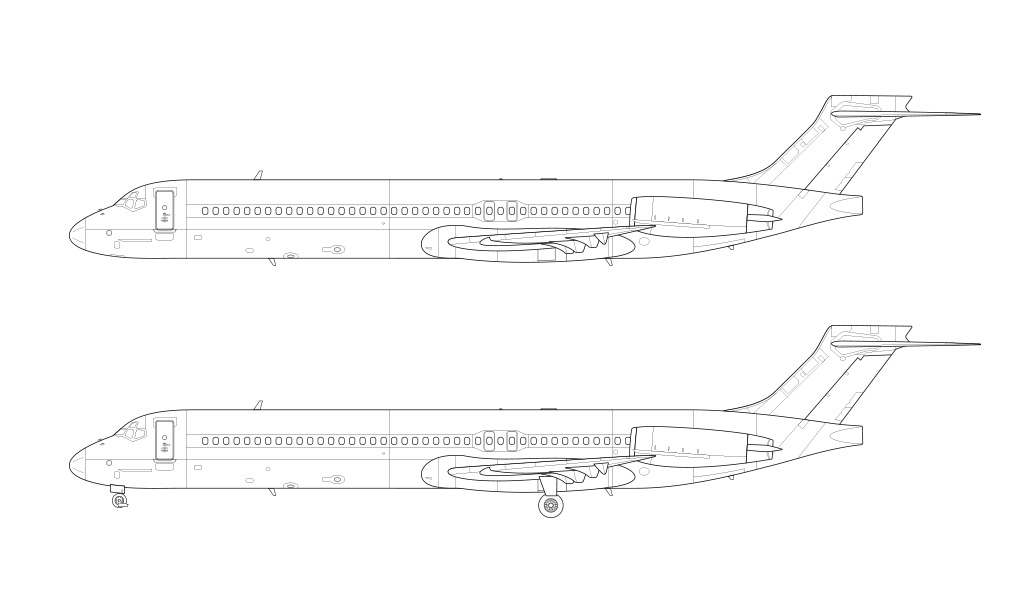 MD-87 blueprint