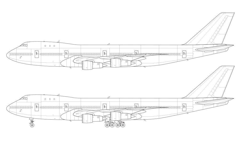 747-100 blueprint