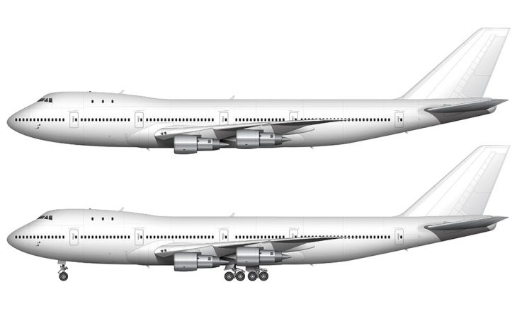 Boeing 747-100 white template