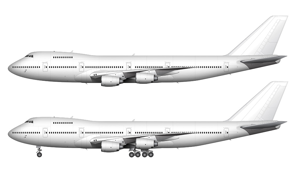 white Boeing 747-200 rolls royce engines