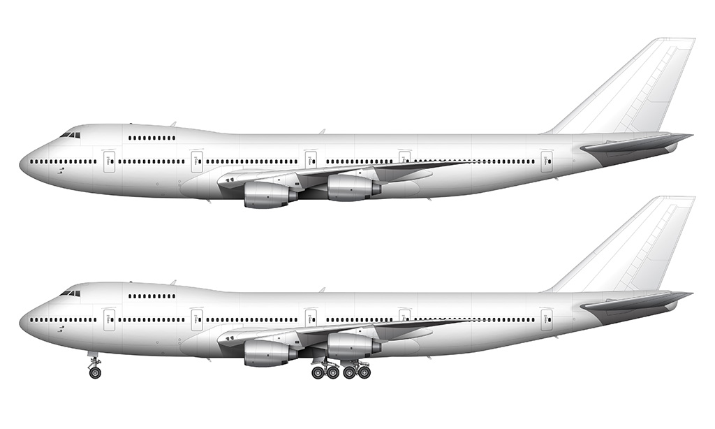 Boeing 747-200 rolls royce engines