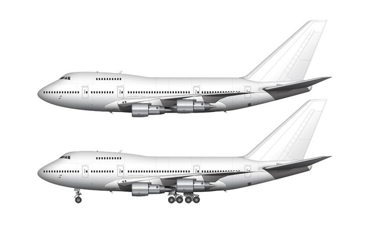 Boeing 747SP white side view
