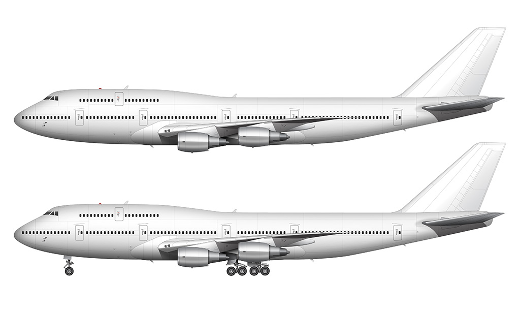 747-300 with General Electric engines