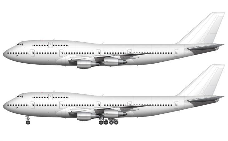 747-300 side view