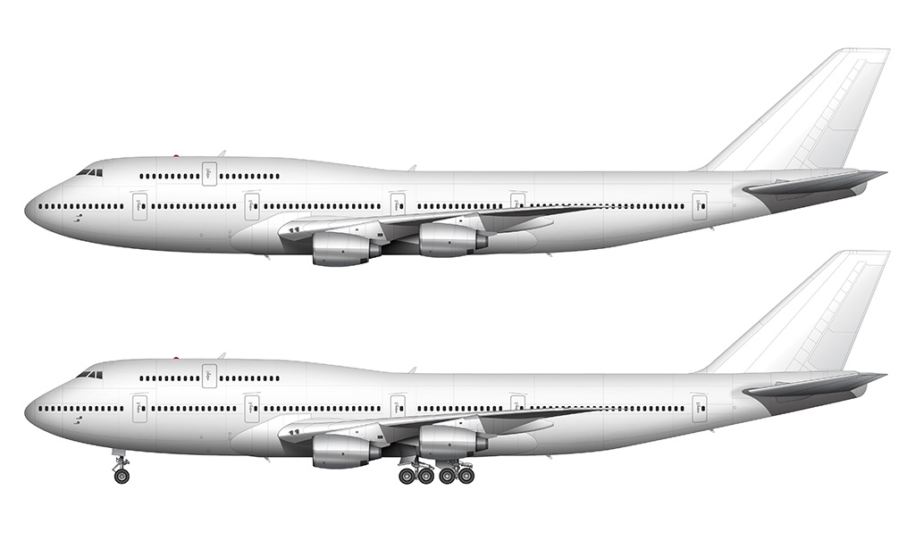 747-300 with Rolls Royce engines