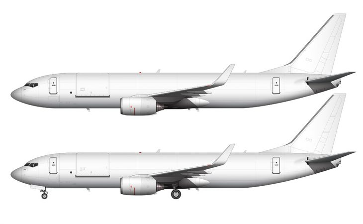 Boeing 737-800BCF side view