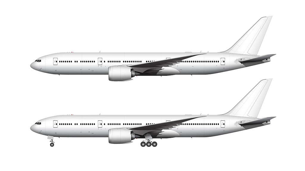 boeing 777-8 templates