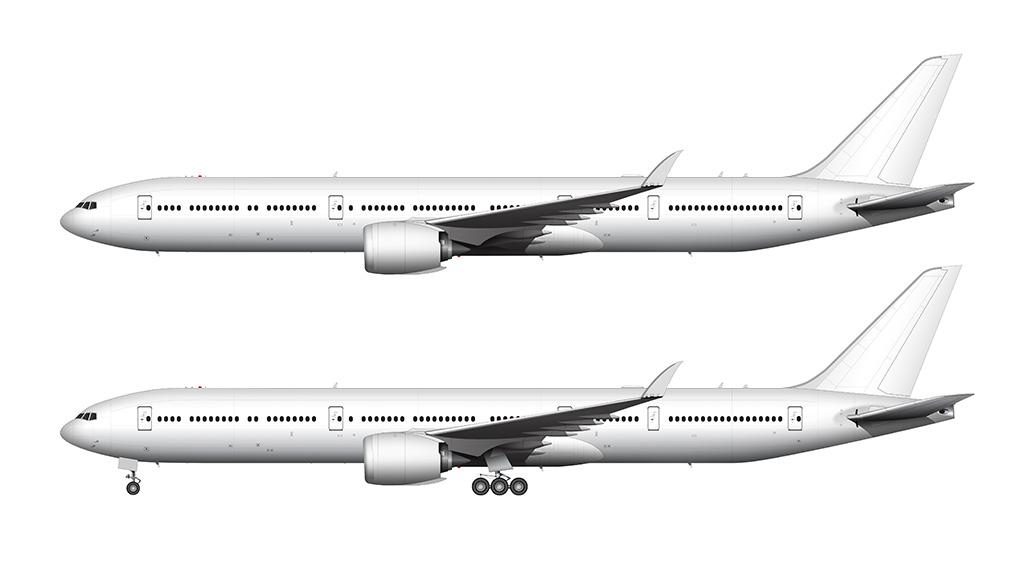 Boeing 777-9 folded wingtips