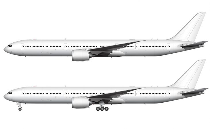 Boeing 777-9 template