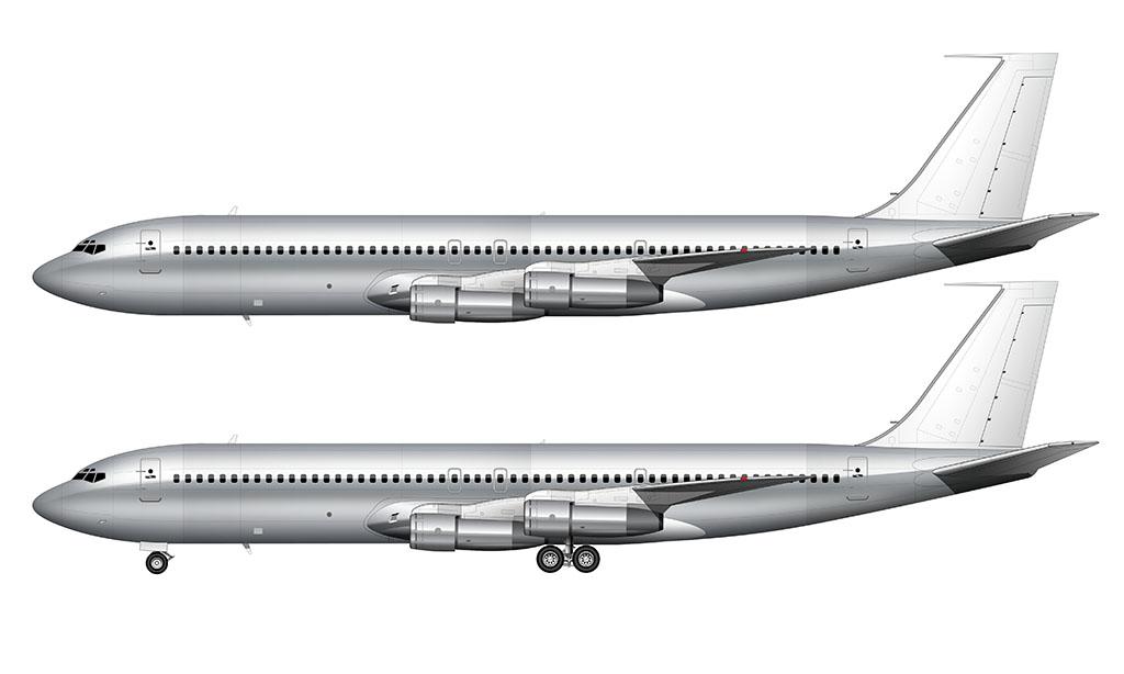 Bare Aluminum Boeing 707-320C