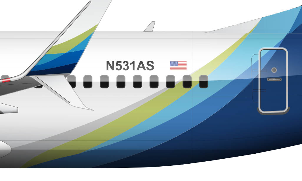 Alaska Airlines new livery details