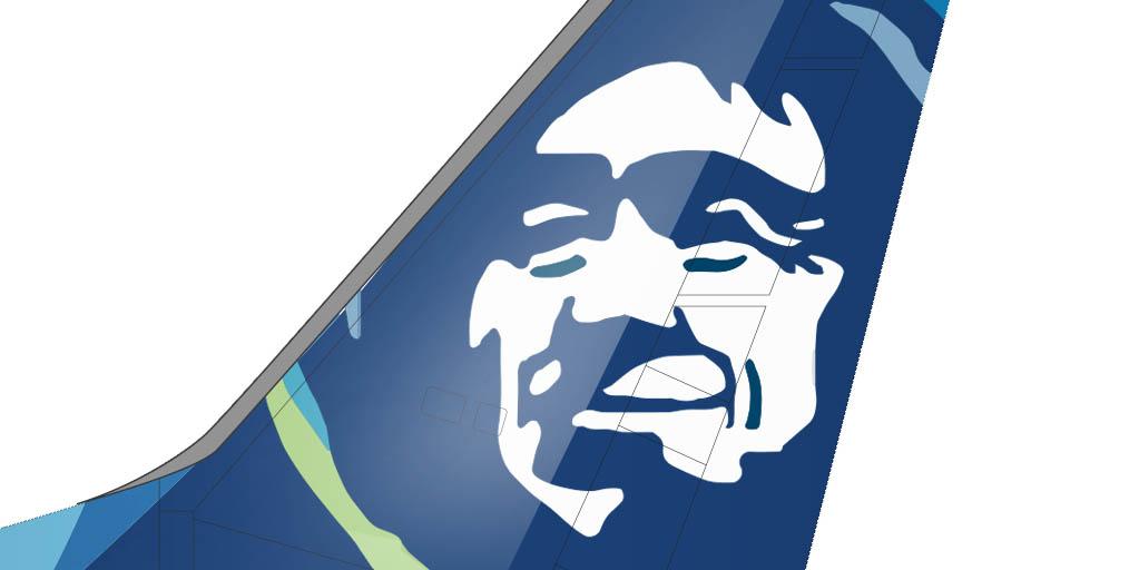 Alaska Airlines new livery eskimo face