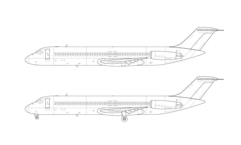 DC-9-40 blueprint