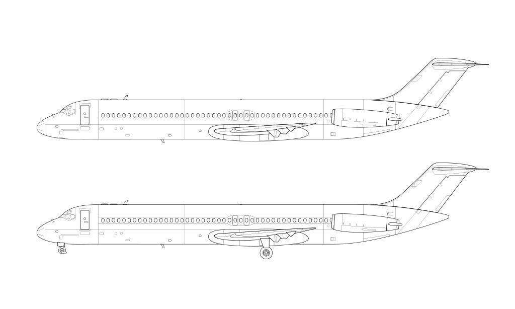 McDonnell Douglas DC-9-50 line drawing