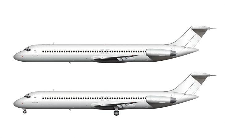 McDonnell Douglas DC-9-50 side view