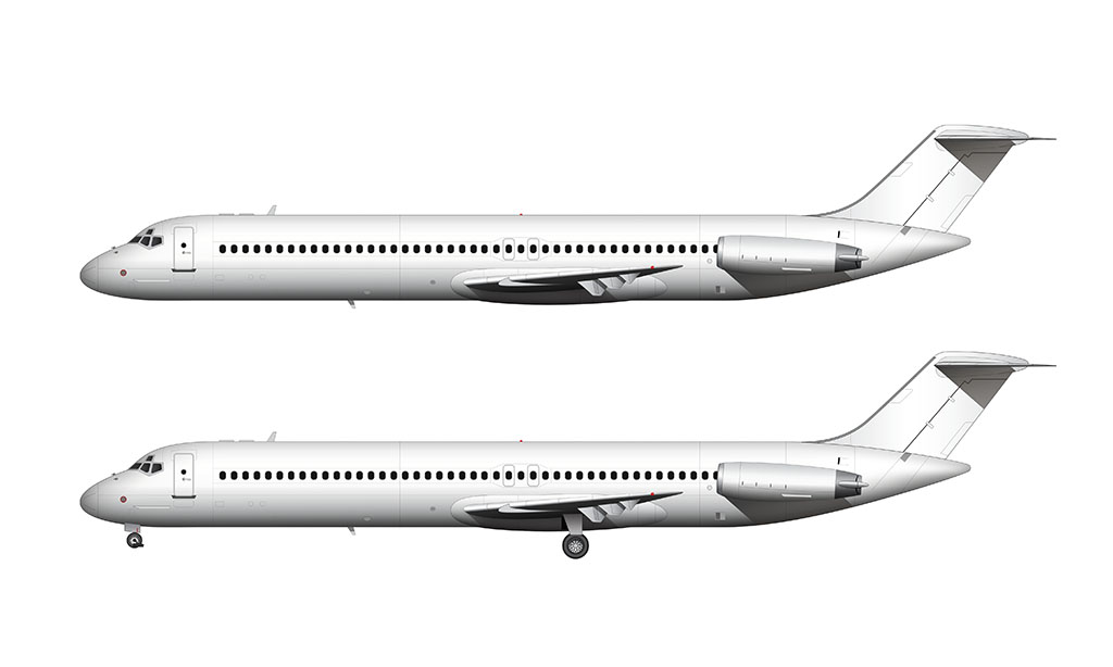 McDonnell Douglas DC-9-50 side view
