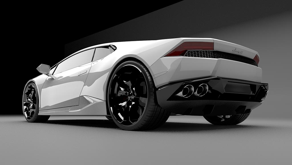 Lamborghini Huracan rear 3/4 view