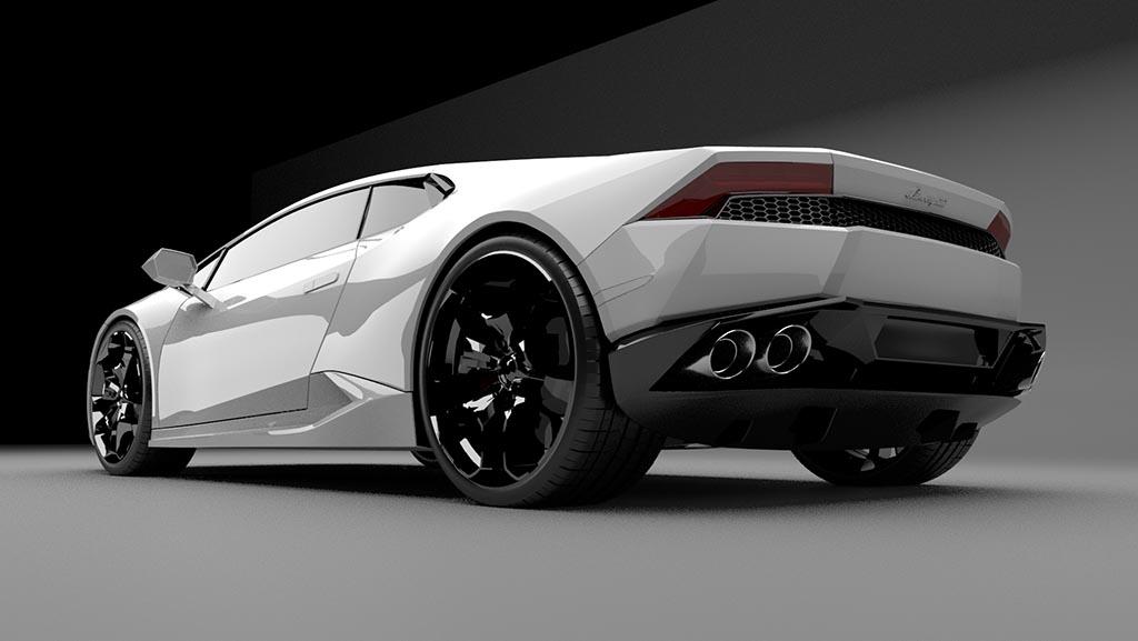 Lamborghini Huracan rear 3/4 view