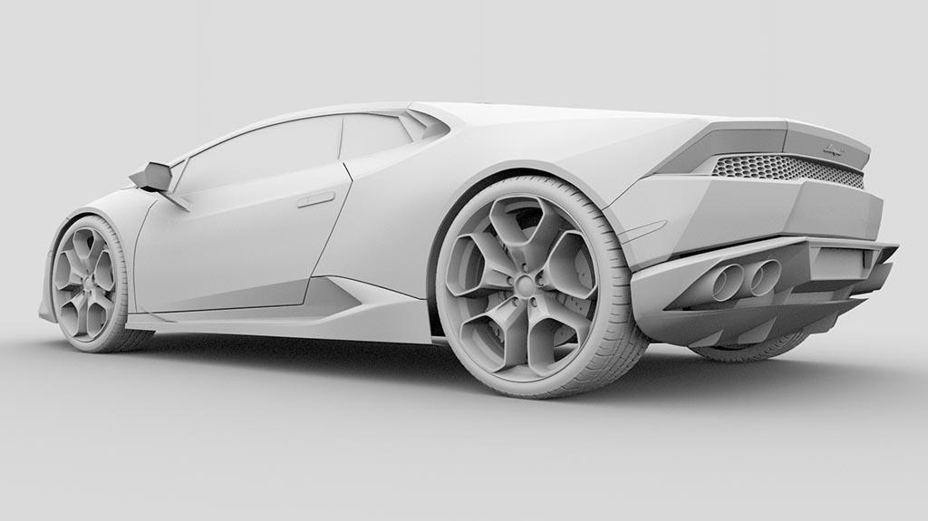 Lamborghini Huracan 3d model wheels and tires