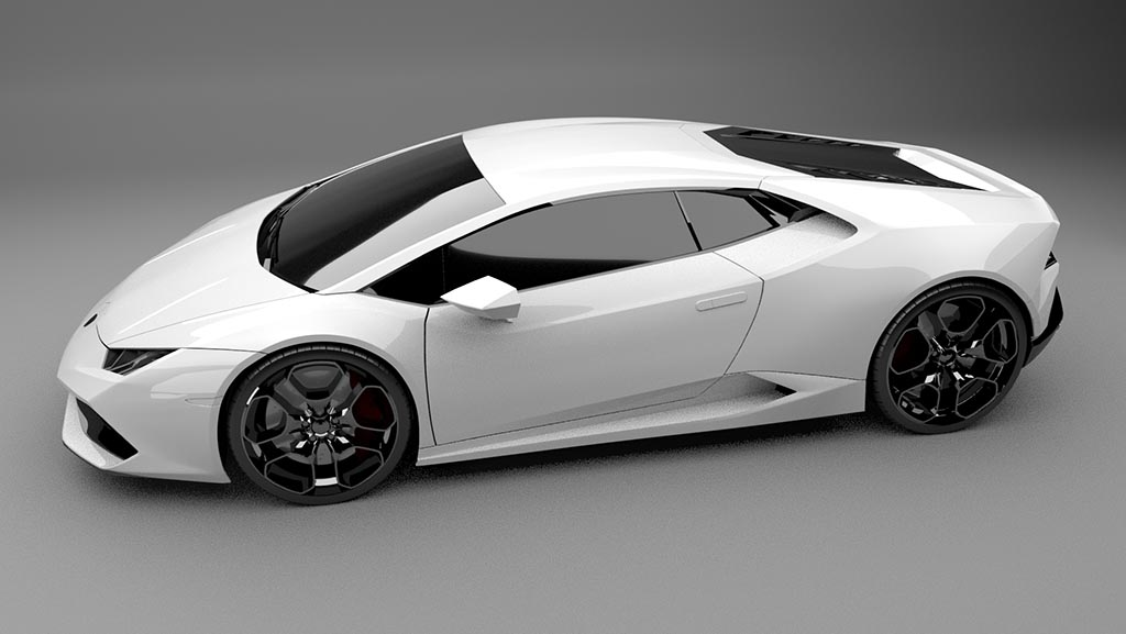 Lamborghini Huracan top down side view