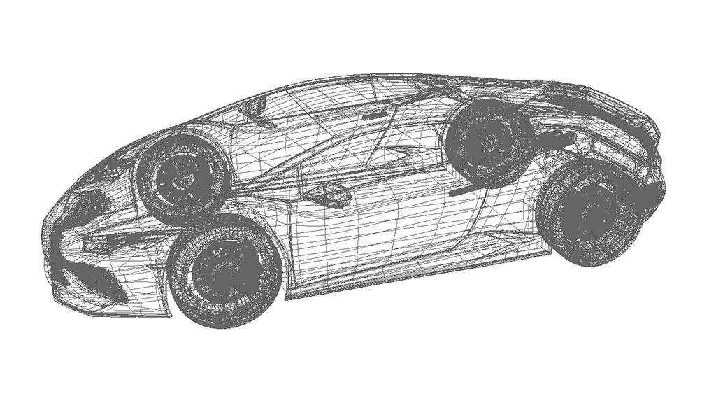 lamborghini 3d model wireframe