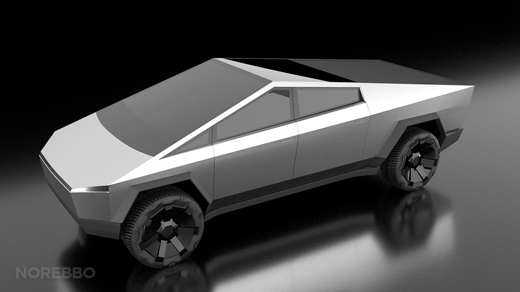 Tesla cybertruck 3d model preview
